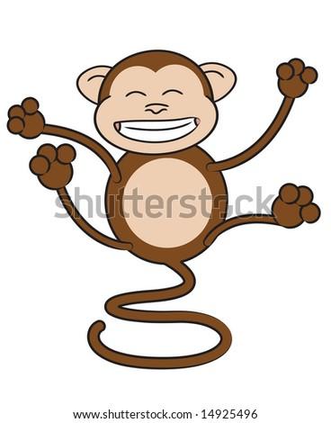 Funny monkey vector - stock vector
