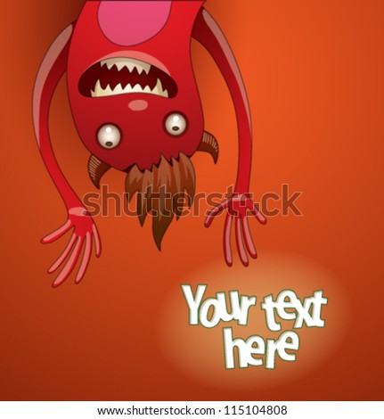 Funny monsters background 05, vector