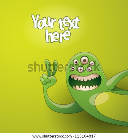 Funny monsters background 03, vector