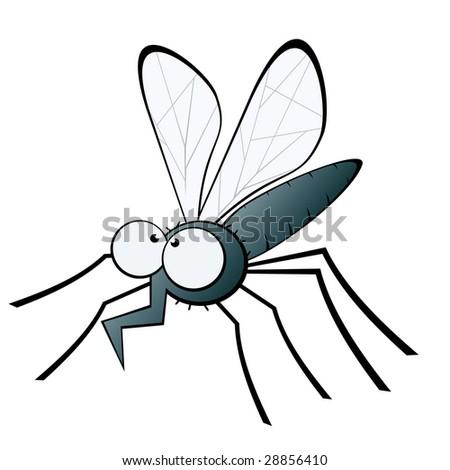 funny mosquito illustration
