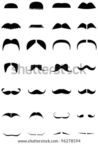 Funny mustache collection