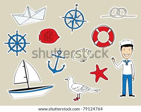 funny nautical set