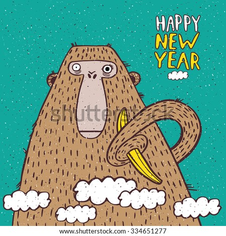 funny new year illustration