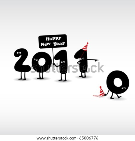 Vector Images, Illustrations and Cliparts: Funny New Year\'s Eve ...