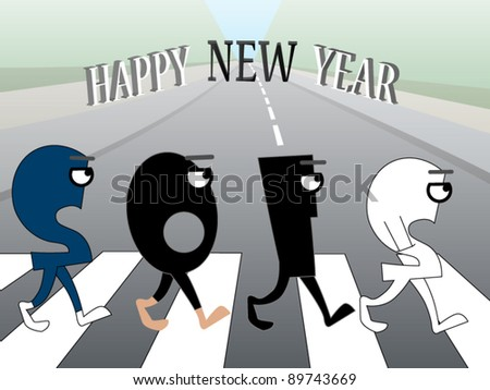 funny new year's greeting card