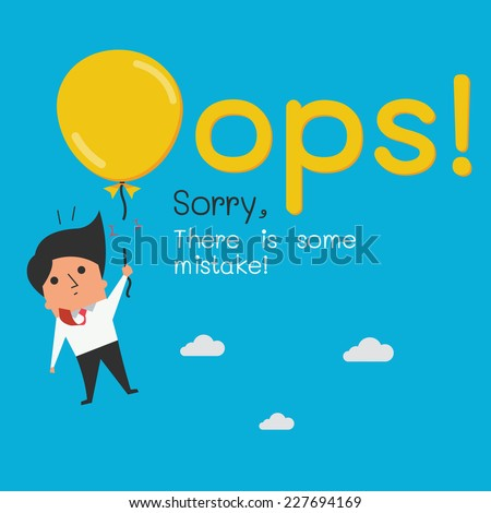 funny oops symbol with cute