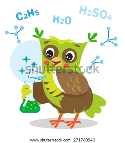funny owl experimenting with