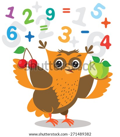 funny owl learn to count and