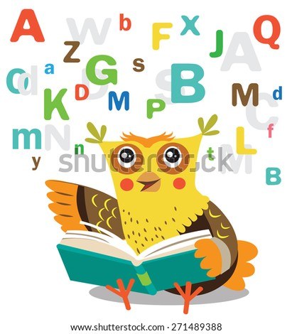 funny owl learn to read book on