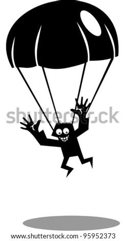 Funny parachutist