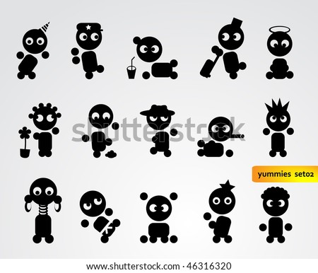 Funny People Icons Stock Vector Illustration 46316320 : Shutterstock: www.shutterstock.com/pic-46316320/stock-vector-funny-people-icons.html