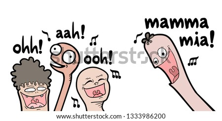 funny people singing