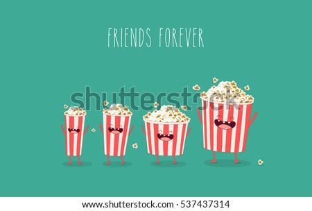 funny popcorn in the box
