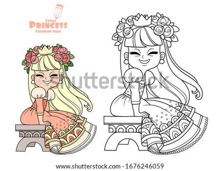 funny princess in peach dress
