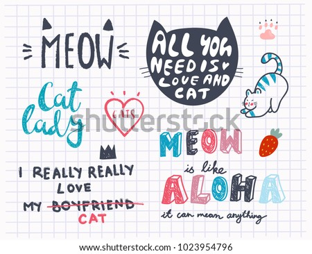 Cat Inspirational Quote Vector Download Free Vector Art Stock