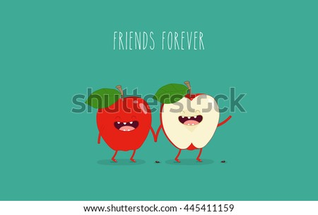 funny red apple use for card