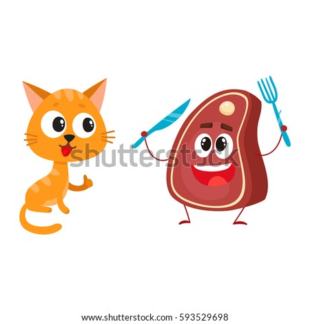 funny red cat  kitten character