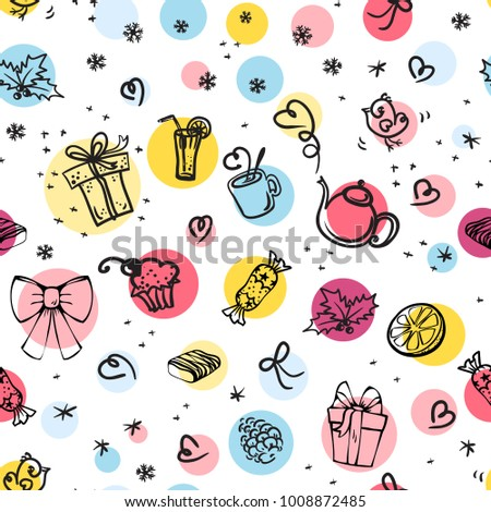 funny seamless pattern with