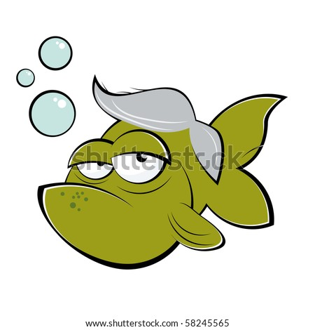 goldfish cartoon. senior cartoon goldfish