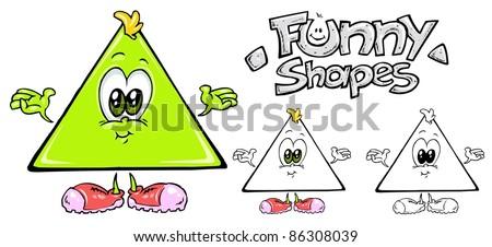 Triangle Cartoon Characters Triangle Cartoon Mascot