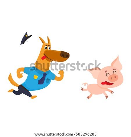 funny shepherd dog character in