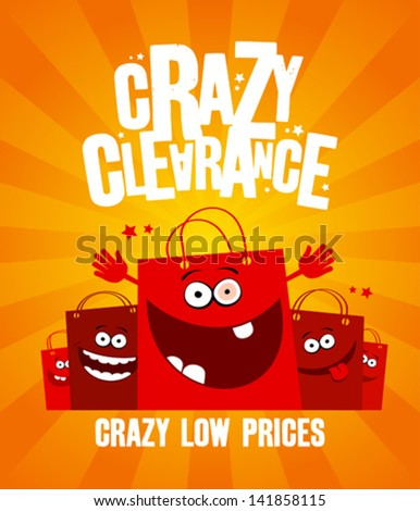 funny shopping bags  crazy