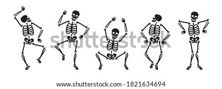 Funny skeleton symbol. Halloween concept vector illustration Foto stock ©
