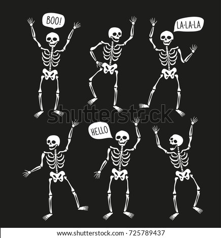funny skeletons in different