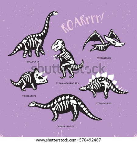 funny sketchy fossil dinosaurs