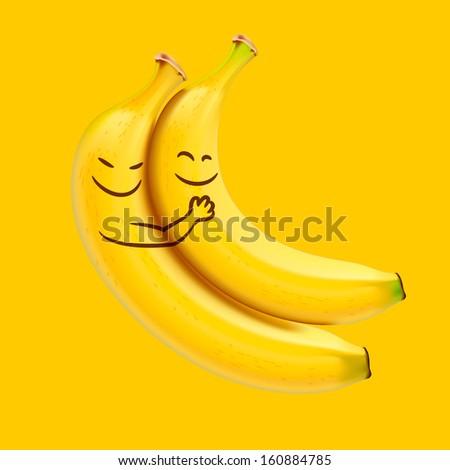 funny sleeping bananas  vector