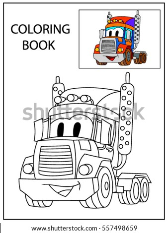 funny smile cartoon  truck