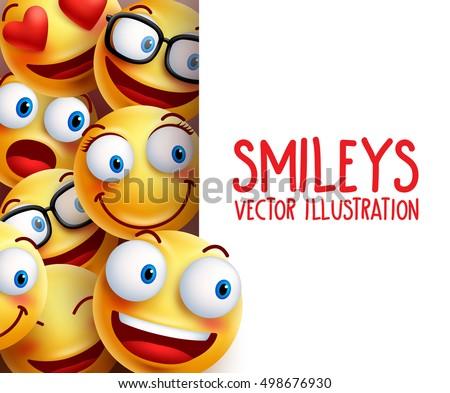 free smiley emoticon vector set download free vector art stock