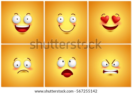 funny smileys vector poster