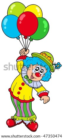 Smiling Clown With Circus Tent Vector Illustration Stock