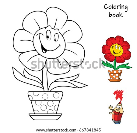 funny smiling flower in a
