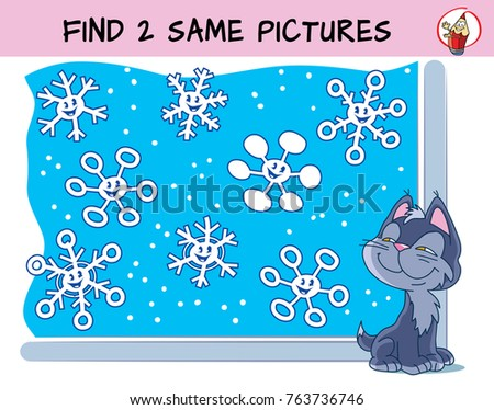 funny snowflakes find two same