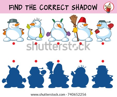 funny snowmen find the correct