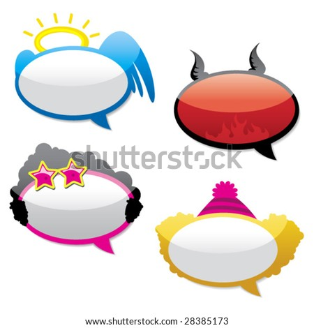 funny stickers. stock vector : Funny stickers.