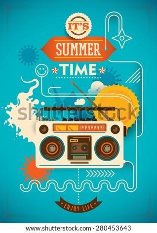 funny summer poster vector