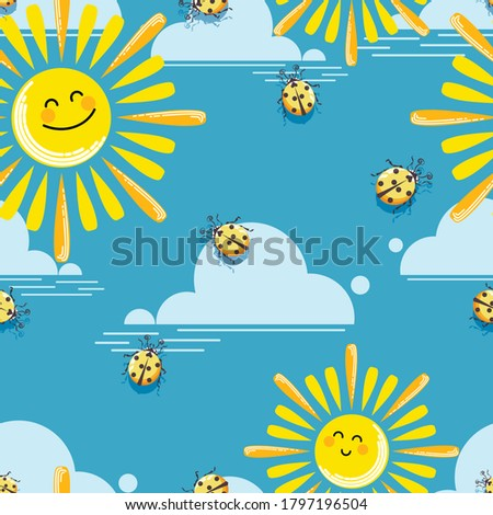 funny suns pattern vector