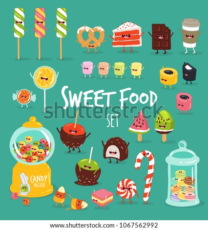 funny sweet food characters