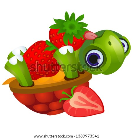 funny turtle licks ripe