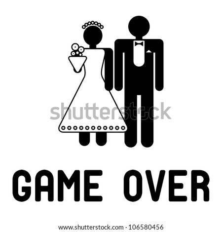 Funny wedding symbols - Game Over