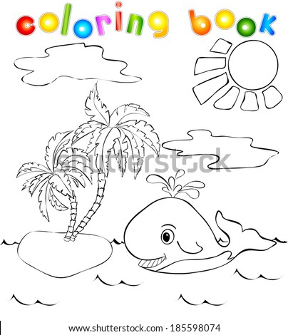 funny whale near the tropical