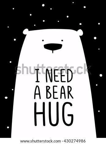 funny white polar bear with