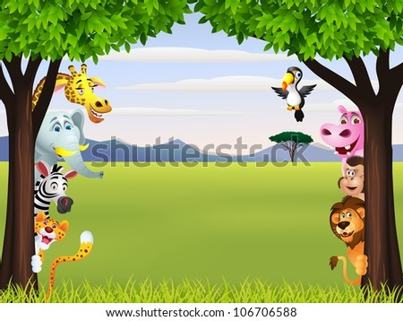 Shutterstock funny wild african animal cartoon 106706588