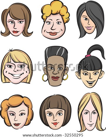 stock vector : Funny women