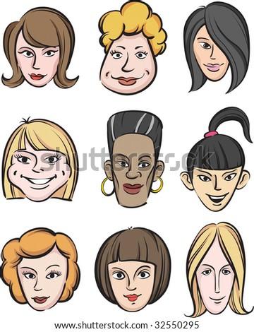 stock vector : Funny women