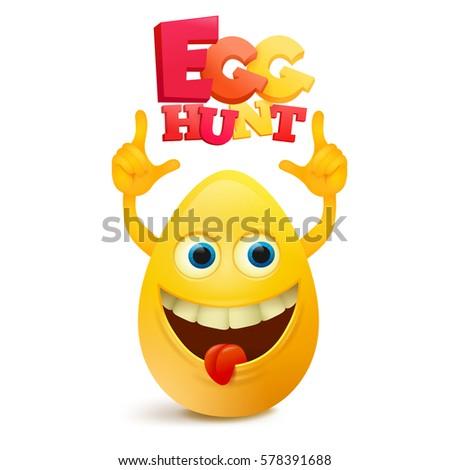 funny yellow egg shaped emoji
