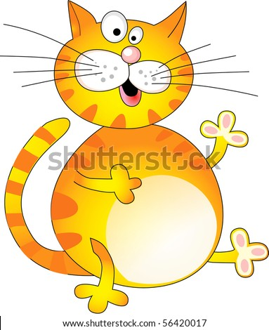 funny yellow fat cat